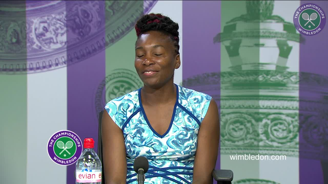Venus Williams first round press conference