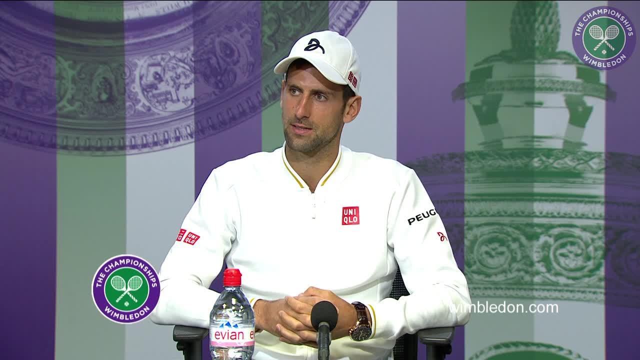 Novak Djokovic first round press conference