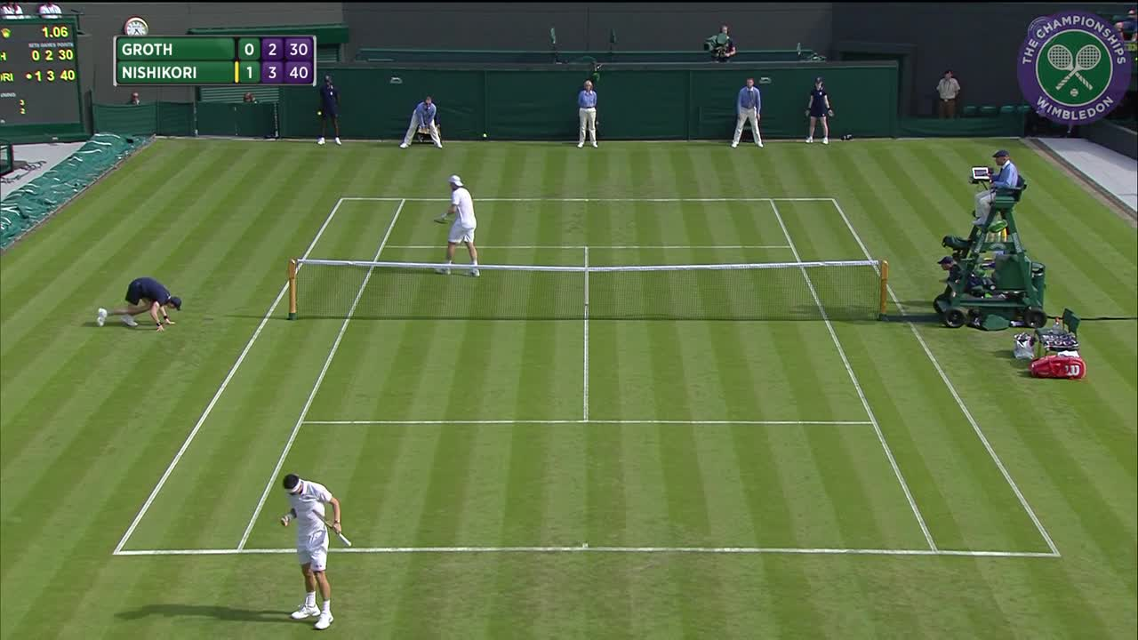2016, Day 1 Highlights, Kei Nishikori vs Sam Groth