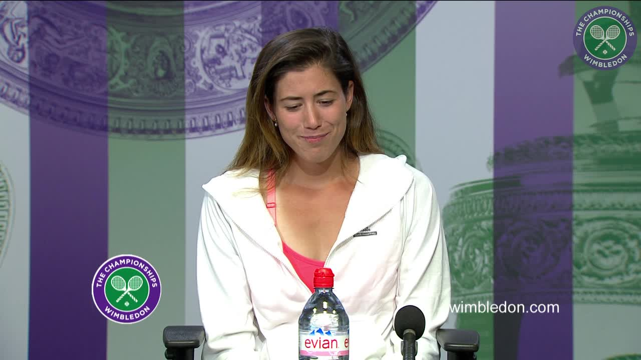 Garbiñe Muguruza first round press conference