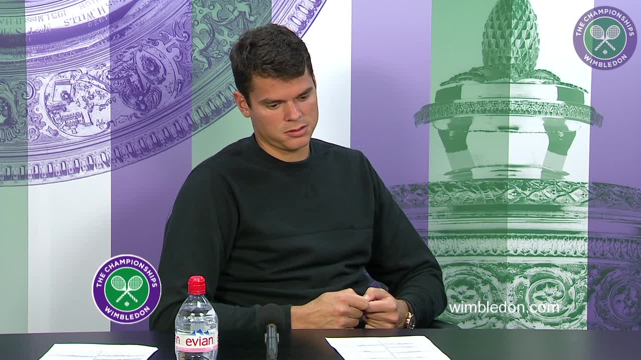 Milos Raonic first round press conference