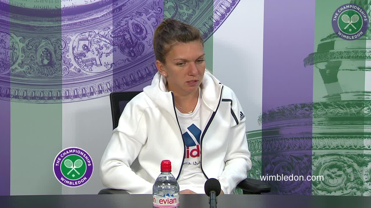 Simona Halep first round press conference