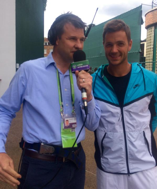 Marcus Willis with Live @ Wimbledon Radio's Barry Cowan