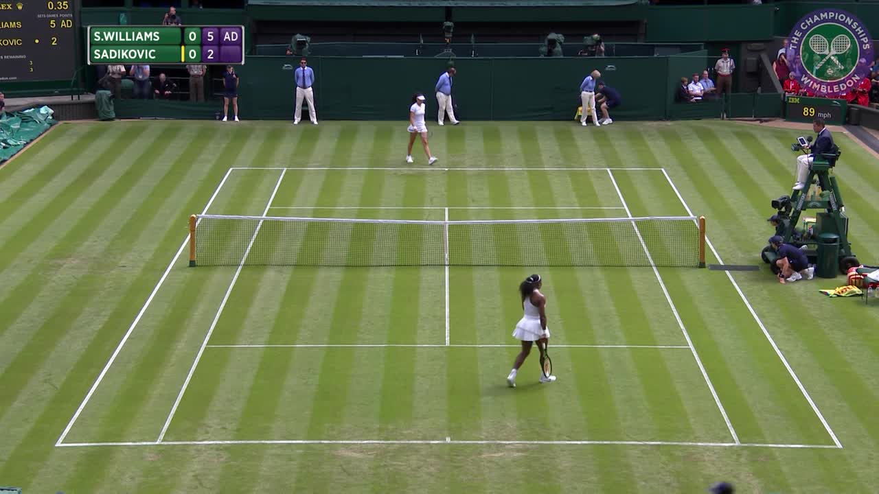 2016, Day 2 Highlights, Serena Williams vs Amra Sadikovic