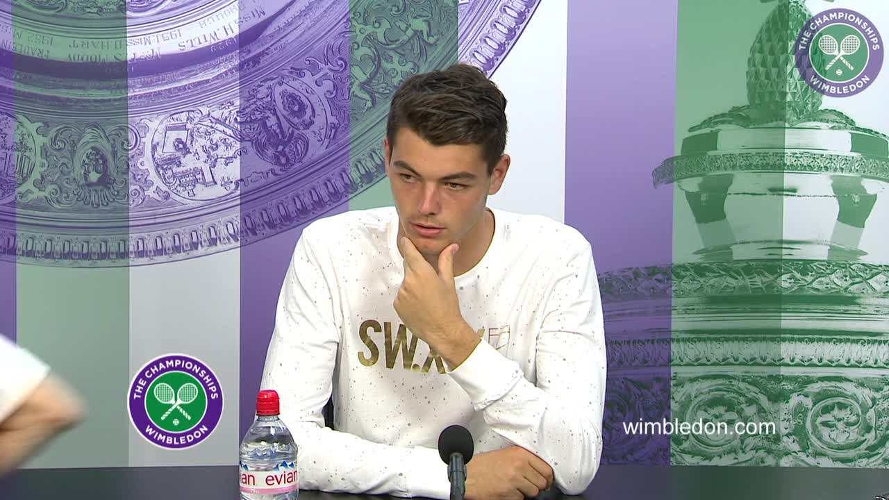 Taylor Fritz first round press conference
