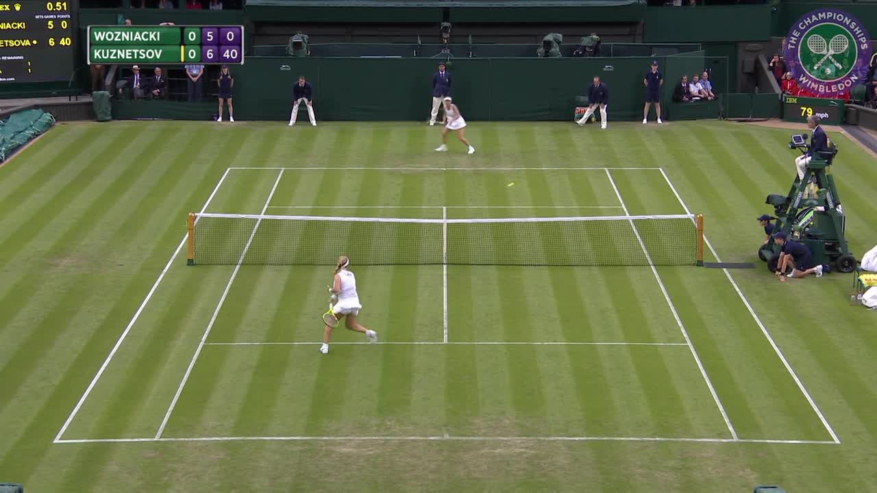 2016, Day 2 Highlights, Svetlana Kuznetsova vs Caroline Wozniaki