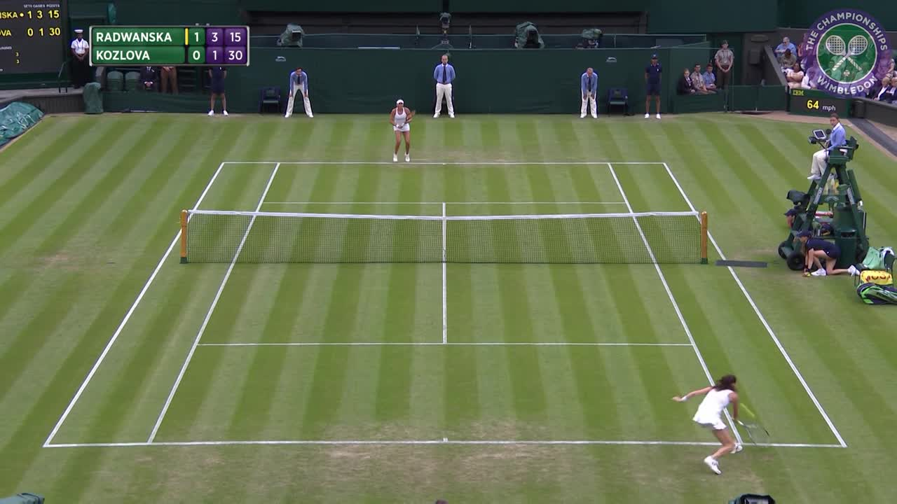 2016, Day 3 Highlights, Agnieszka Radwanska vs Kateryna Kozlova