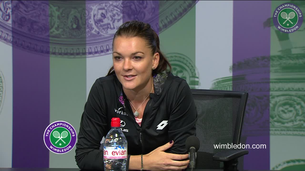Agnieszka Radwanska first round press conference