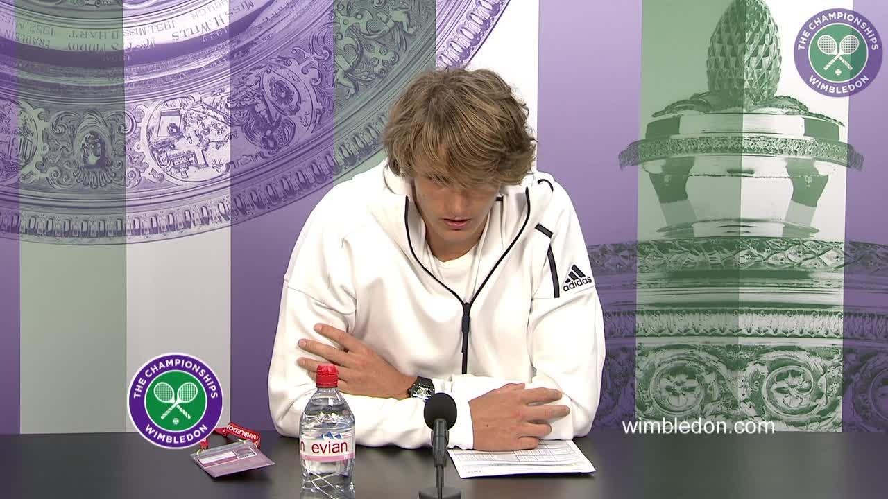 Alexander Zverev first round press conference