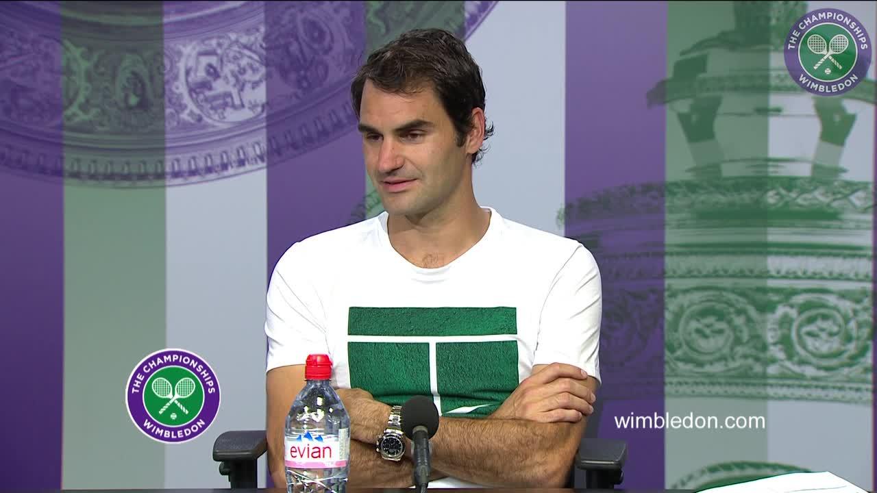 Roger Federer second round press conference