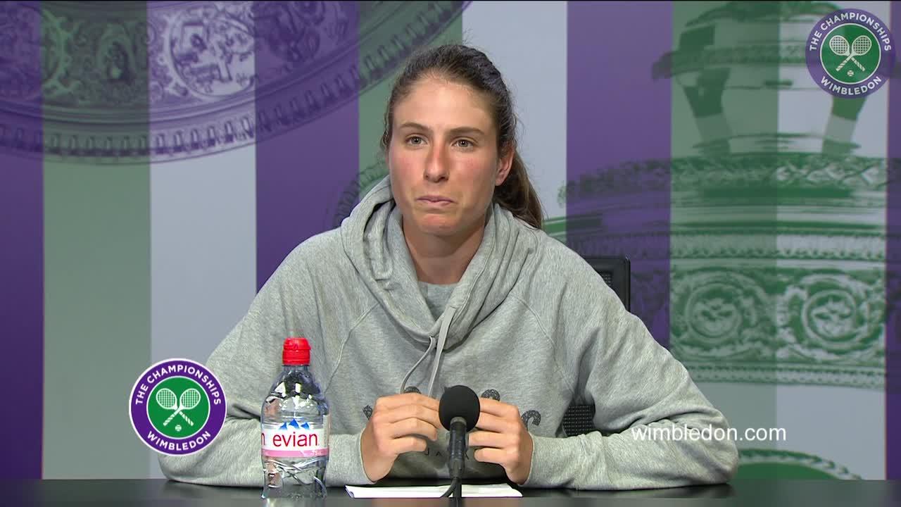 Johanna Konta first round press conference