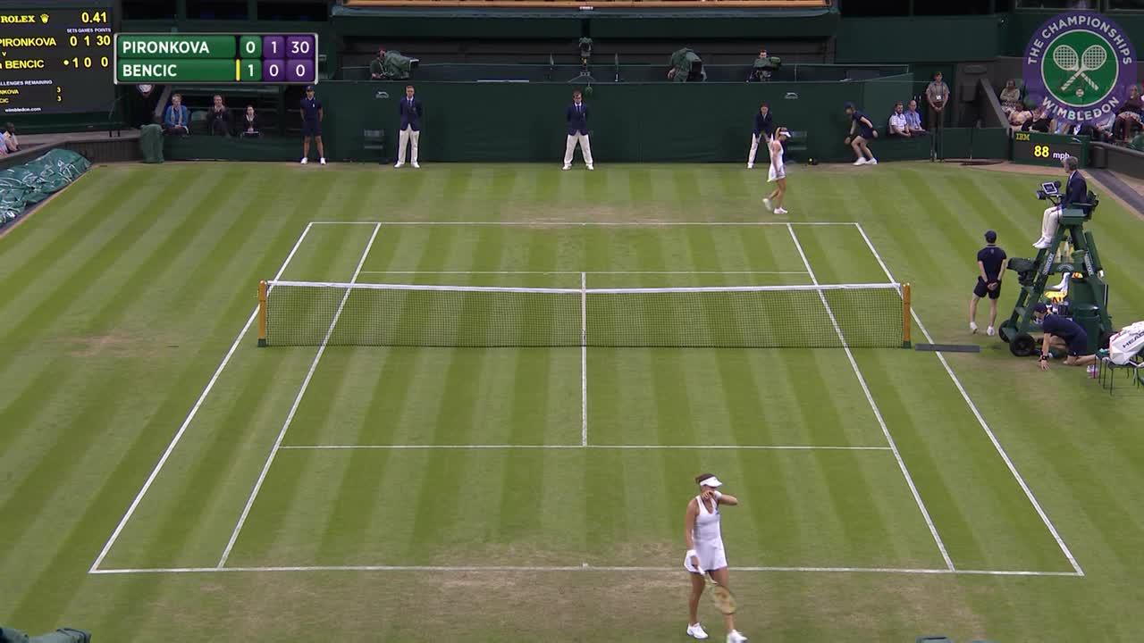 2016, Day 3 Highlights, Belinda Bencic vs Tsvetana Pironkova