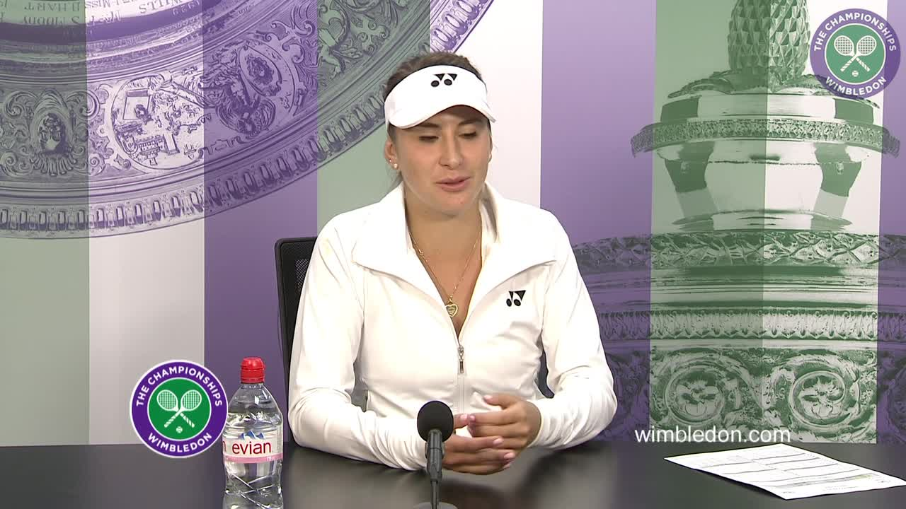 Belinda Bencic first round press conference