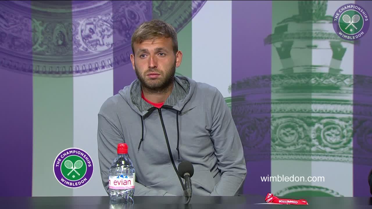 Dan Evans second round press conference