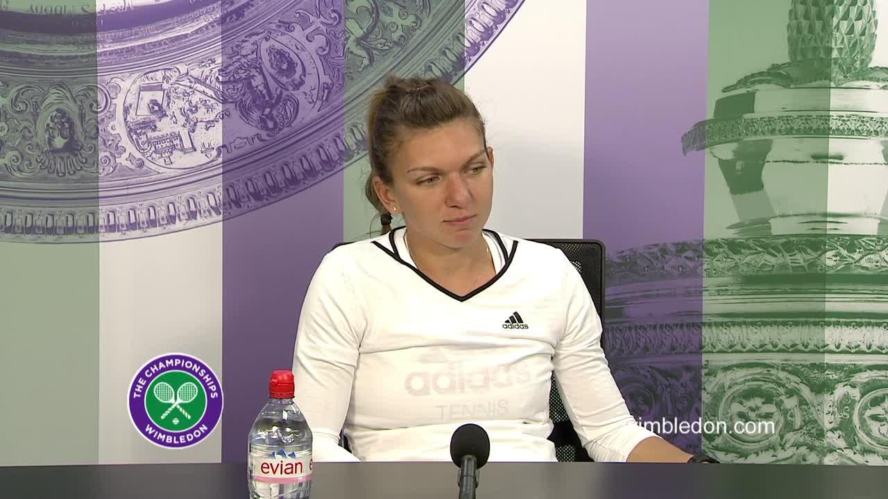 Simona Halep second round press conference