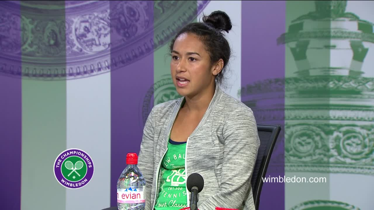 Heather Watson first round press conference