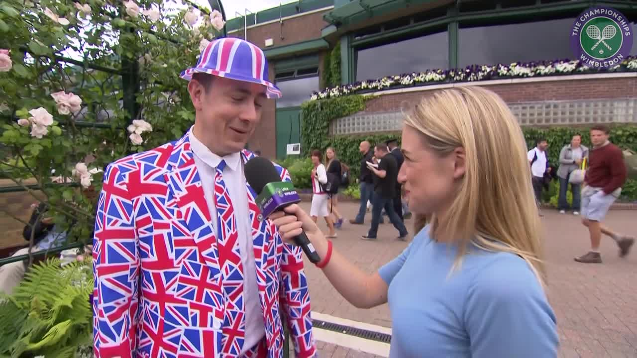 Wimbledon super fan notches up 18 outings at The Championships