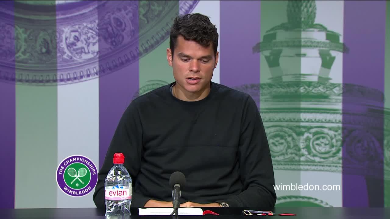 Milos Raonic second round press conference