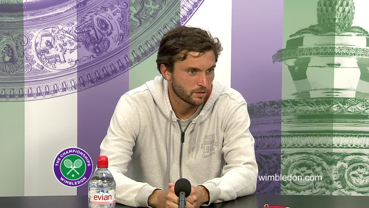 Gilles Simon second round press conference