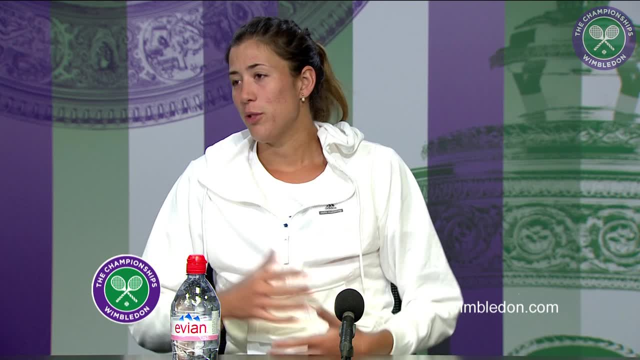 Garbiñe Muguruza second round press conference