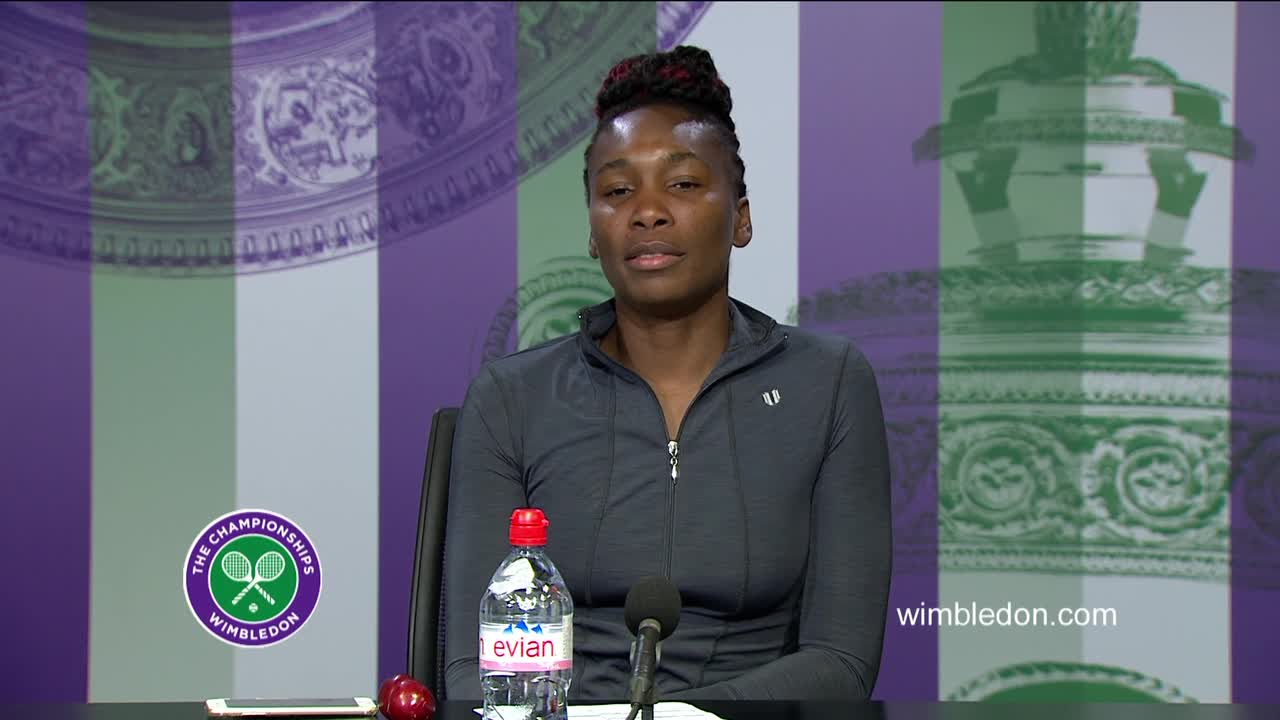 Venus Williams second round press conference