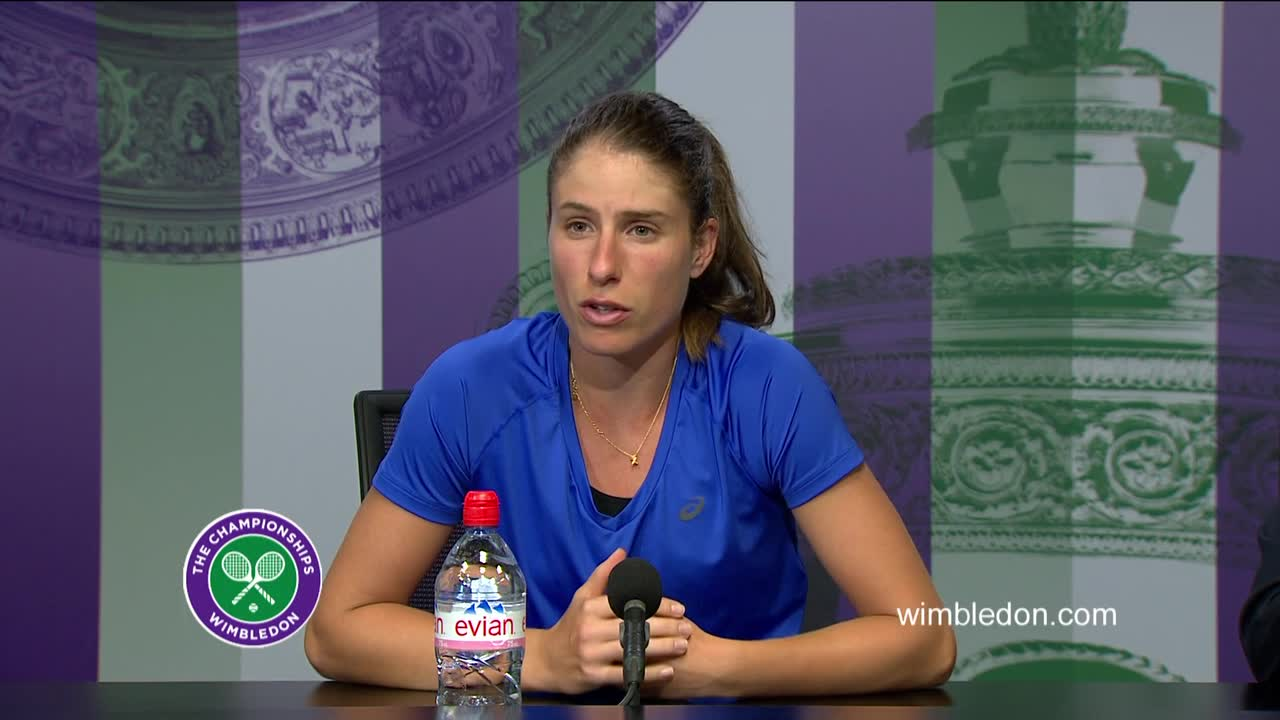 Johanna Konta second round press conference