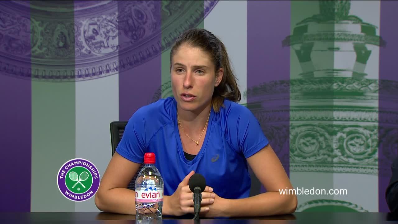 Johanna Konta second round press conference