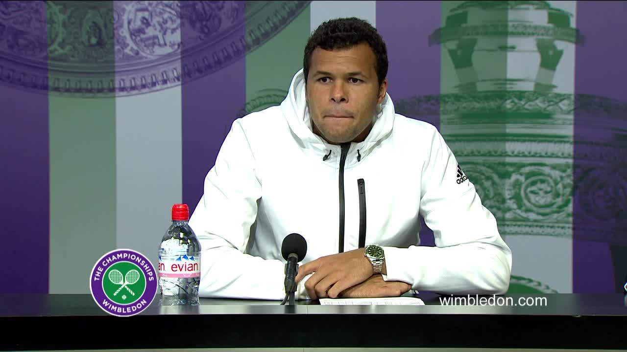 Jo-Wilfried Tsonga second round press conference