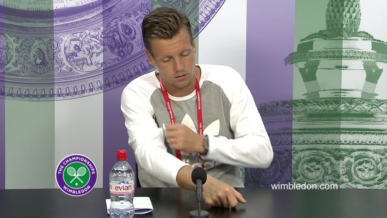 Tomas Berdych second round press conference