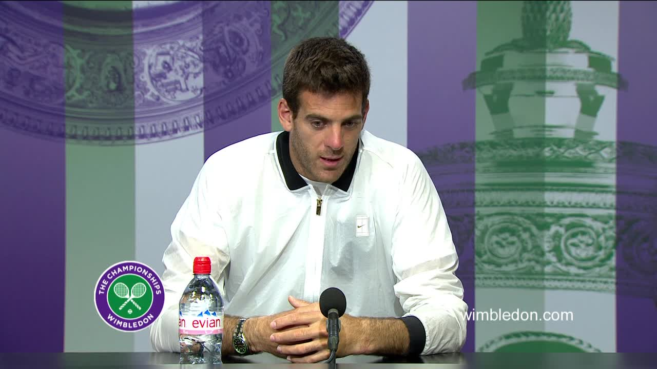 Juan Martin Del Potro second round press conference