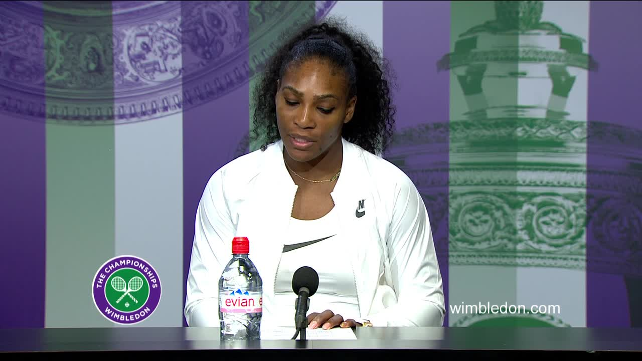 Serena Williams second round press conference
