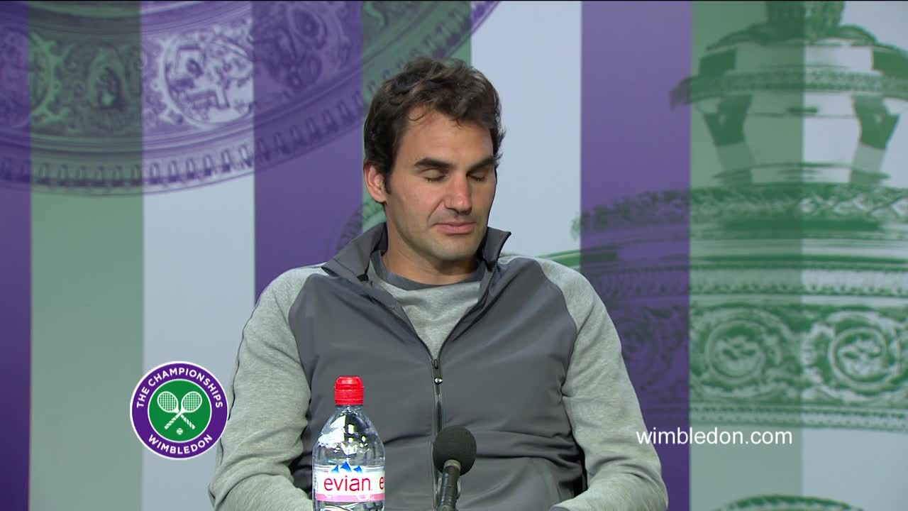 Roger Federer third round press conference