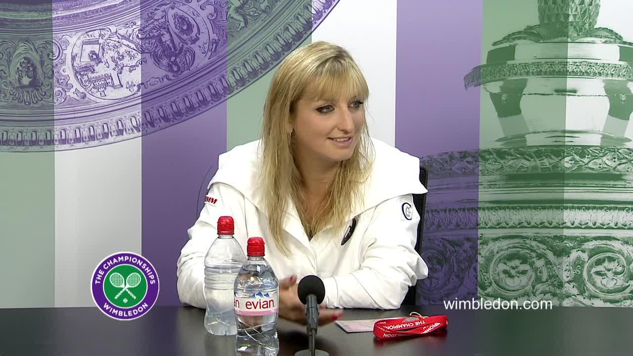 Timea Bacsinszky second round press conference