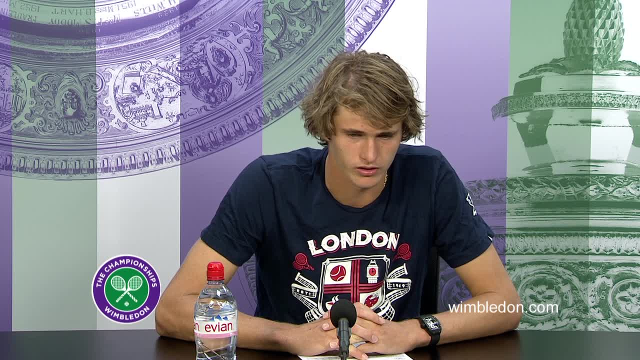 Alexander Zverev second round press conference