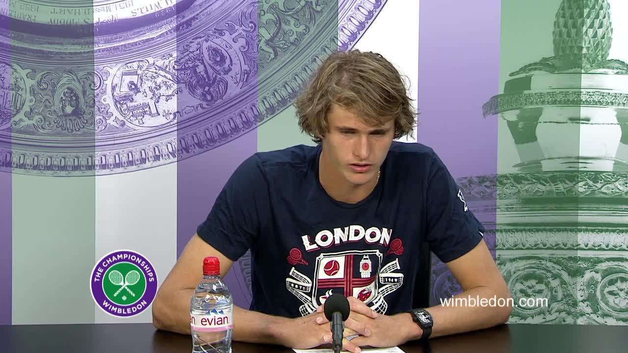 Alexander Zverev second round press conference
