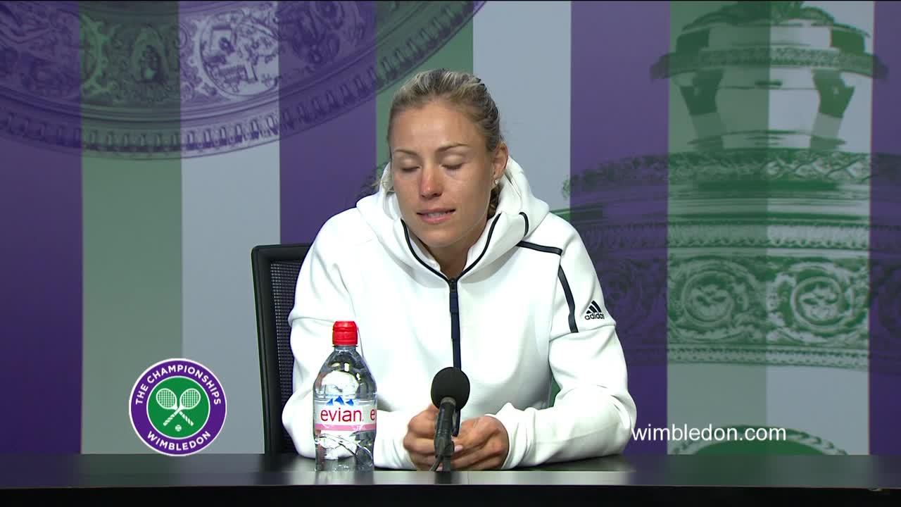 Angelique Kerber third round press conference