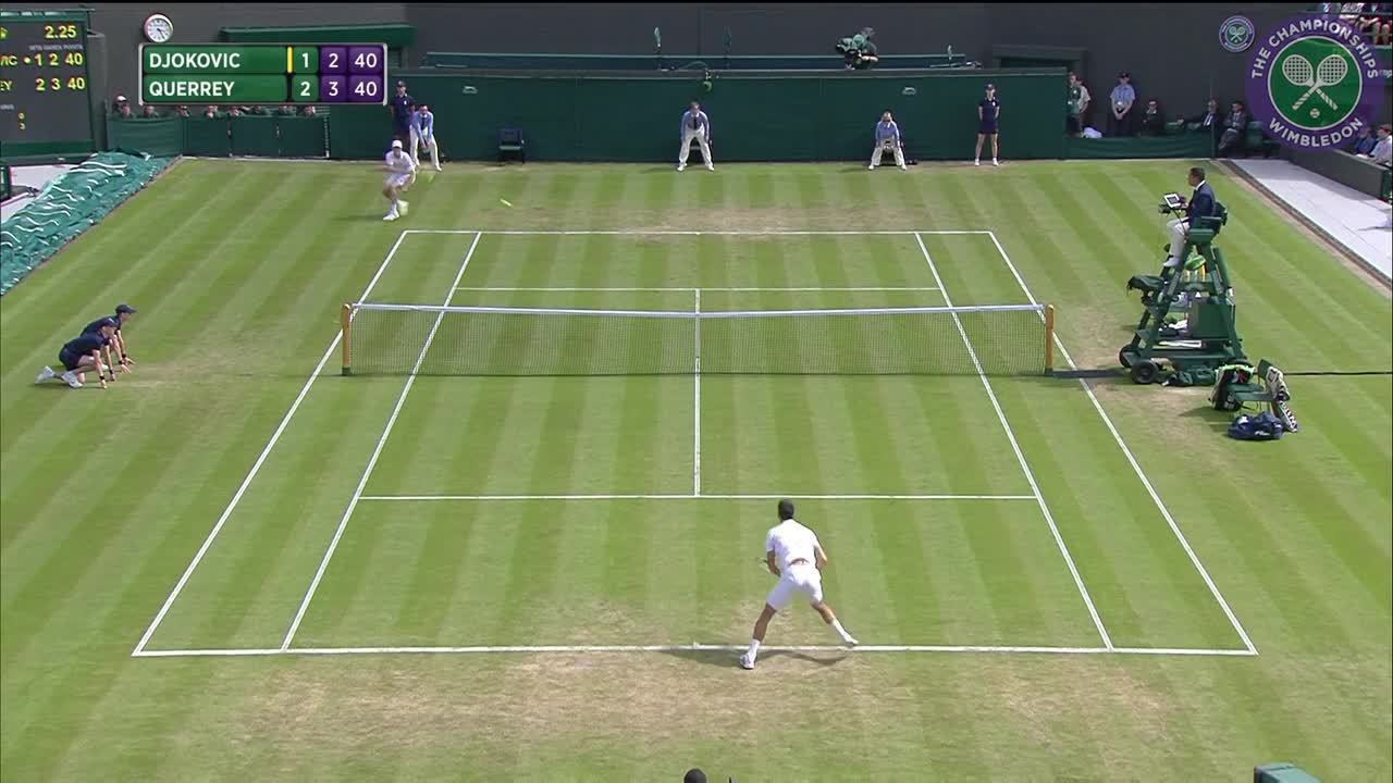 Sam Querrey upsets Novak Djokovic - Highlights - Day 6