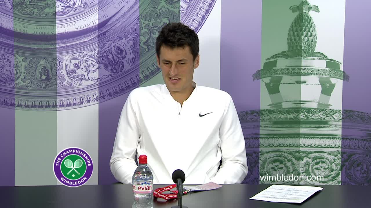 Bernard Tomic third round press conference