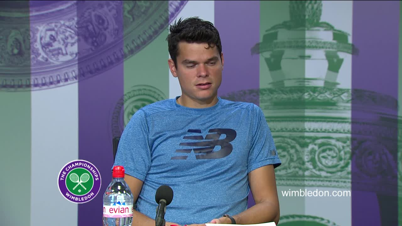 Milos Raonic third round press conference