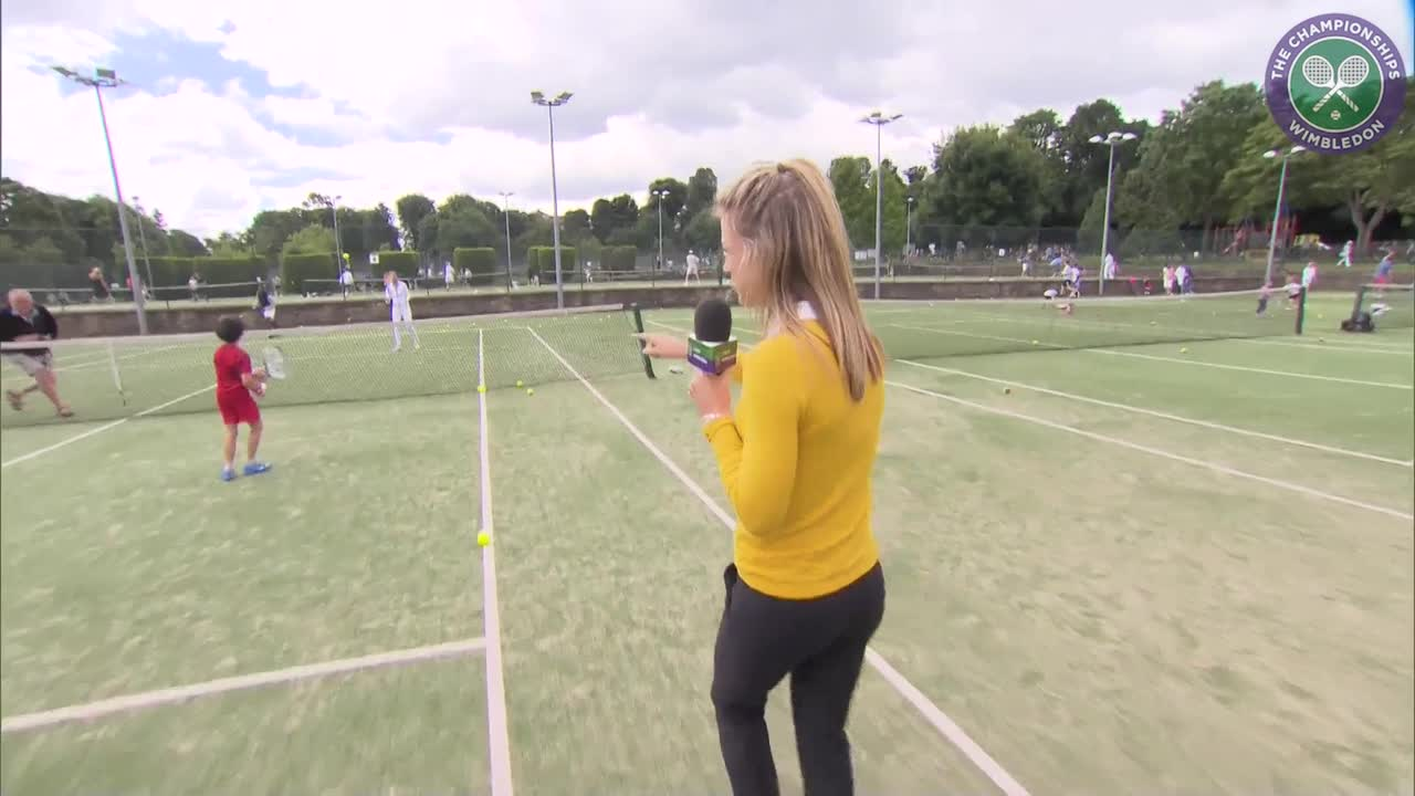 Laura Robson and Katie Swan offer tips to the Wimbledon stars of tomorrow