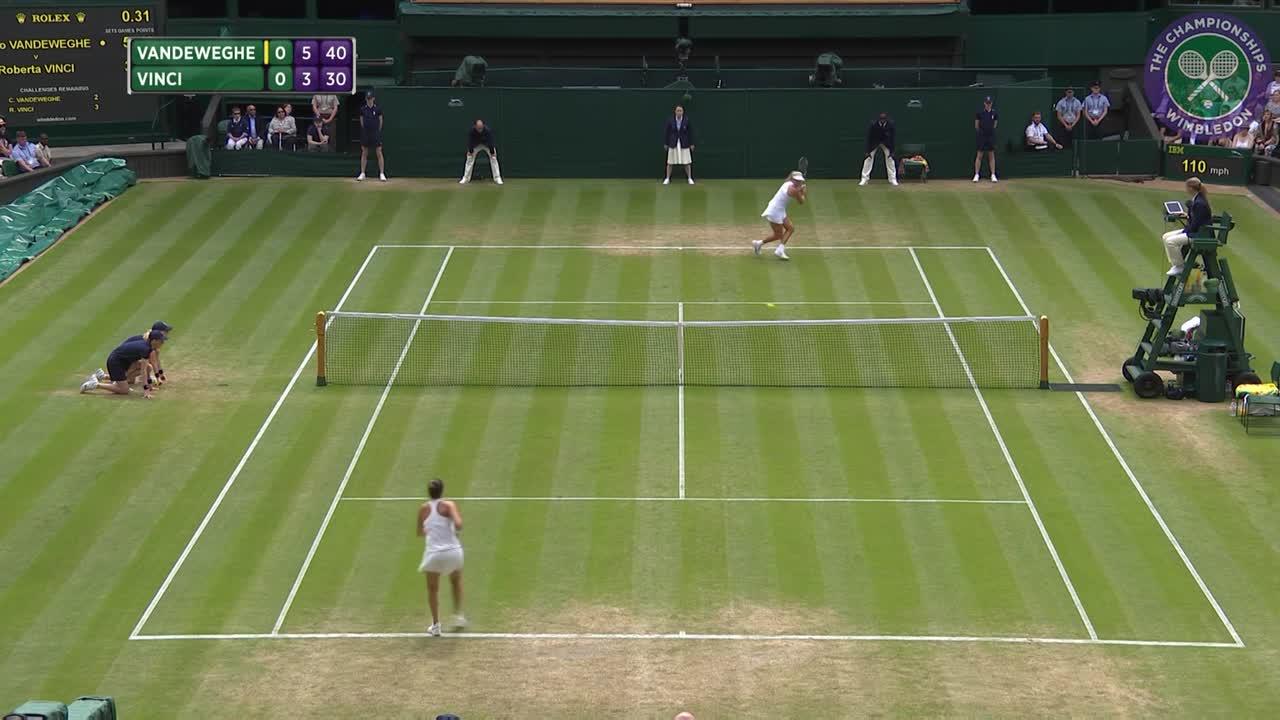 2016, Middle Sunday Highlights, Coco Vandeweghe vs Roberta Vinci