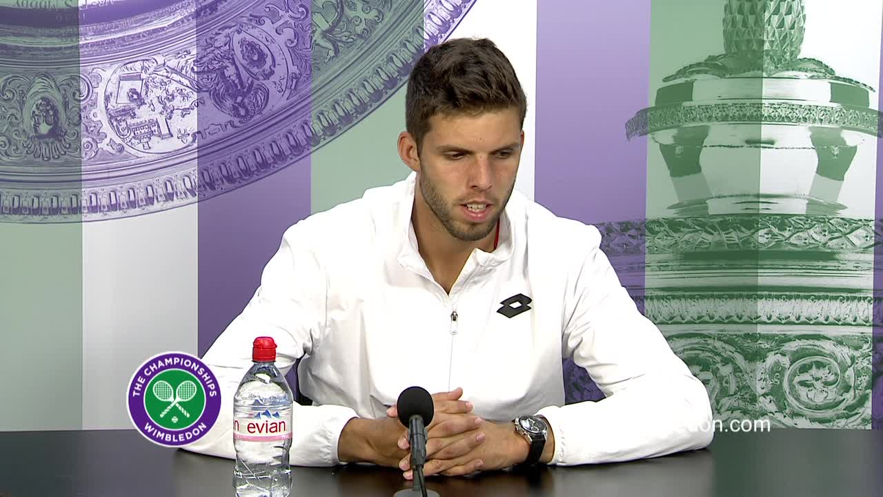 Jiri Vesely third round press conference