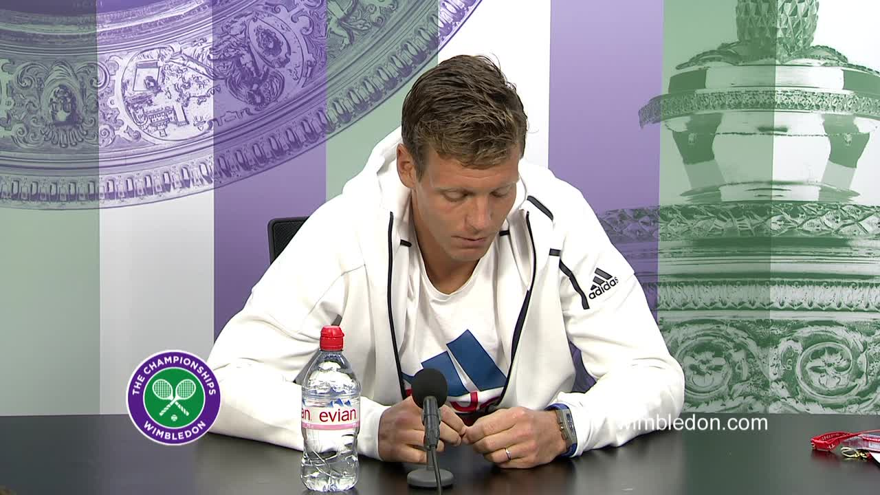 Tomas Berdych third round press conference