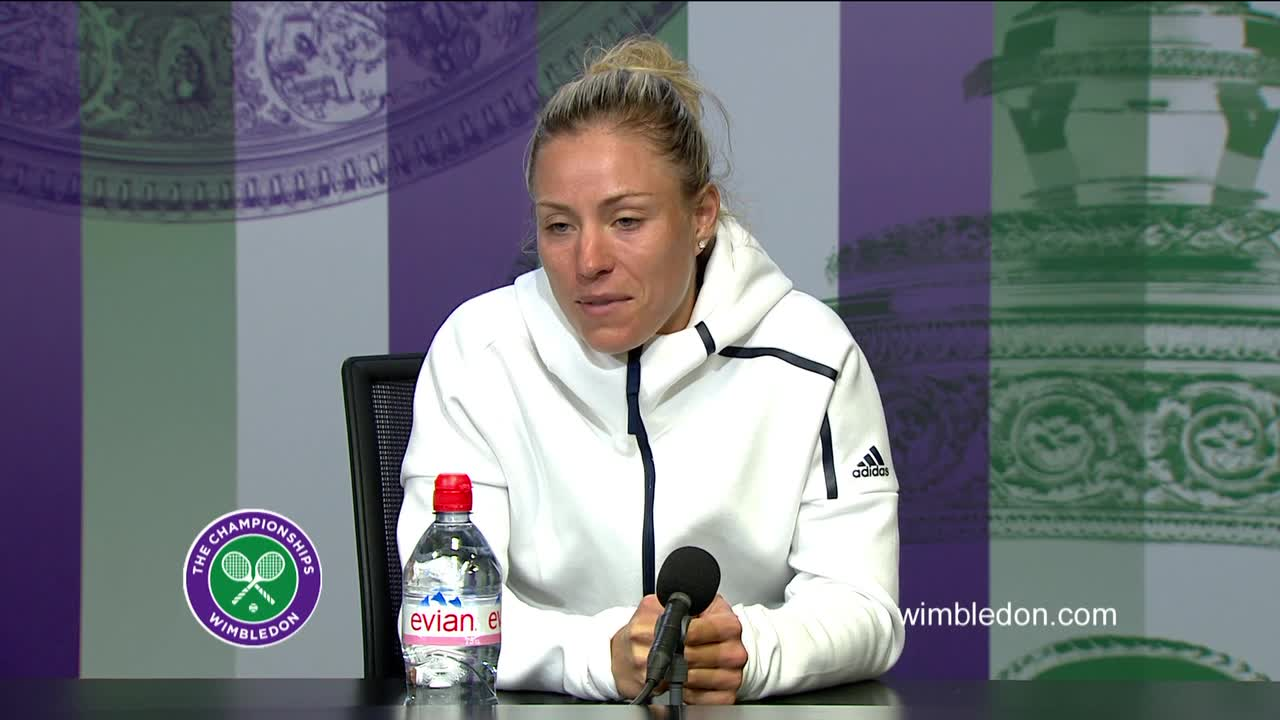 Angelique Kerber fourth round press conference