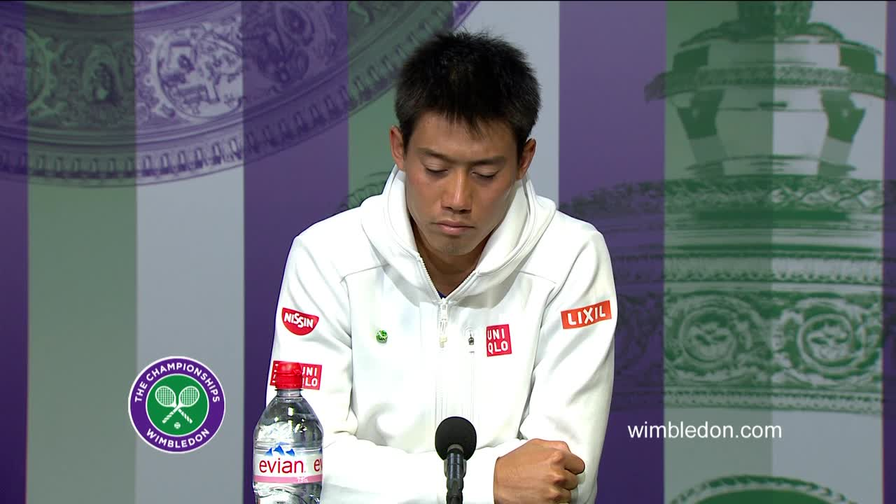 Kei Nishikori fourth round press conference