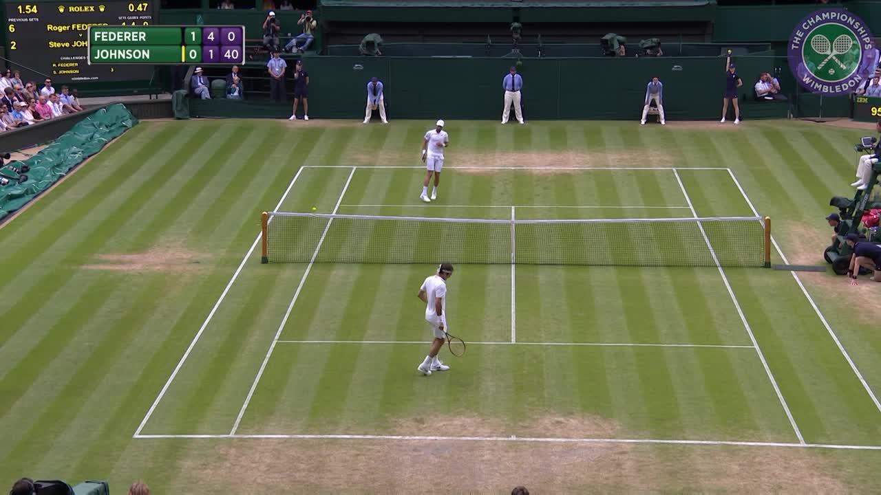 2016, Day 7 Highlights, Roger Federer vs Steve Johnson