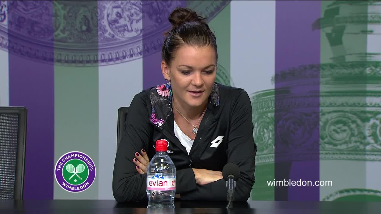 Agnieszka Radwanska fourth round press conference