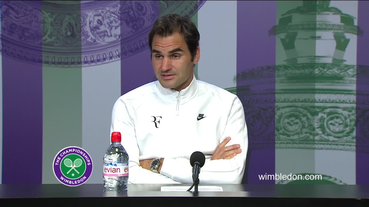 Roger Federer fourth round press conference