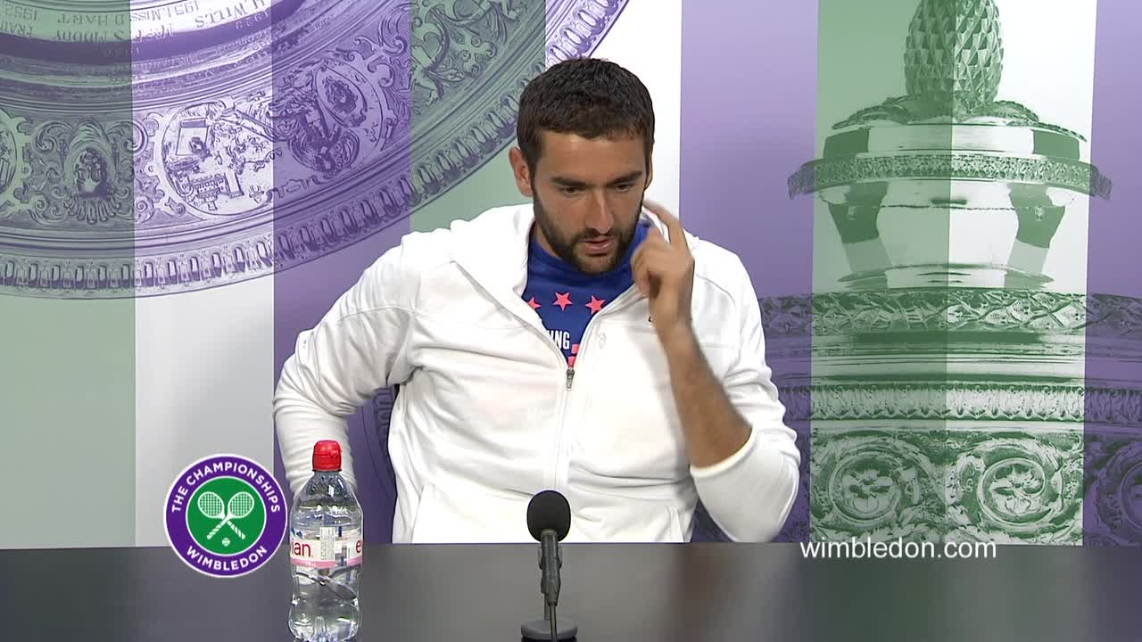 Marin Cilic fourth round press conference
