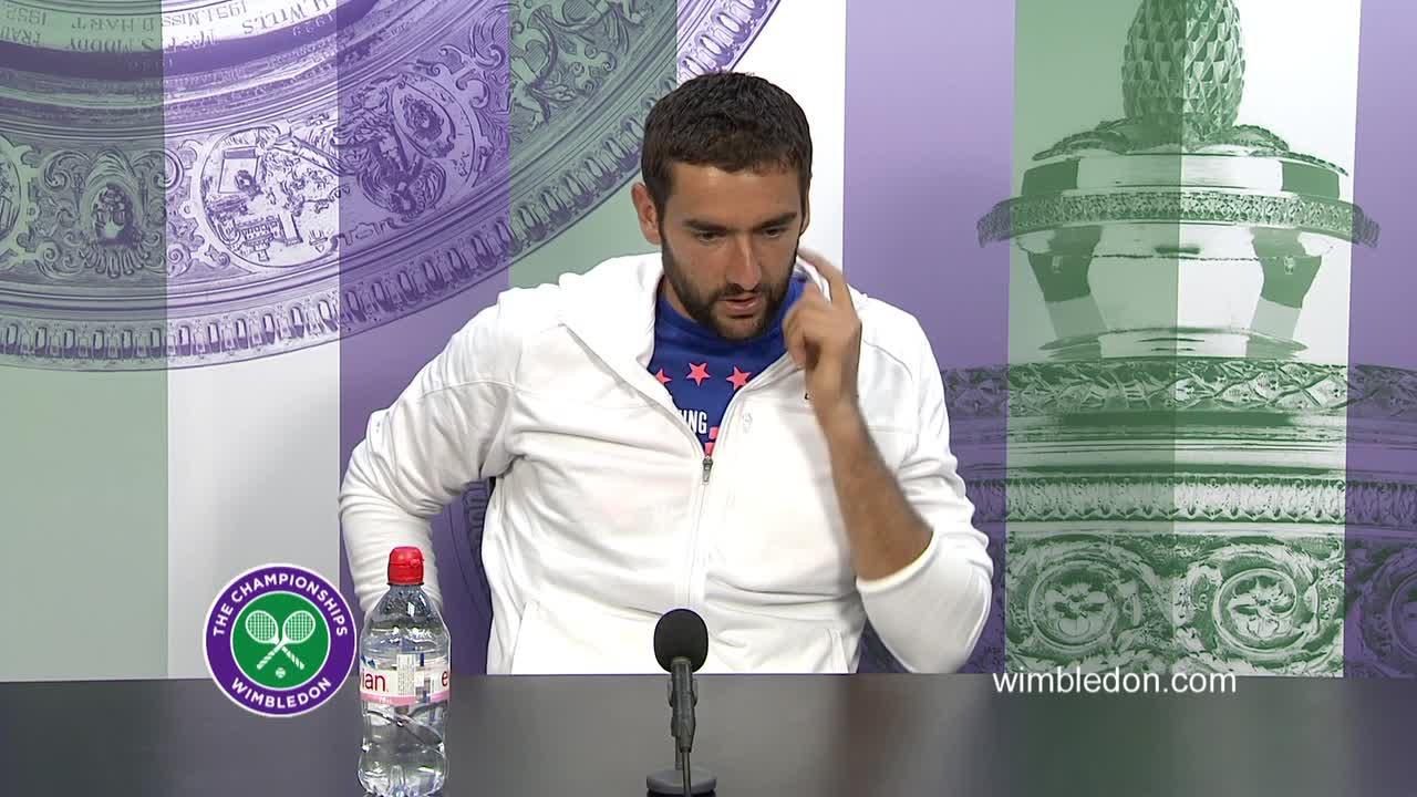 Marin Cilic fourth round press conference